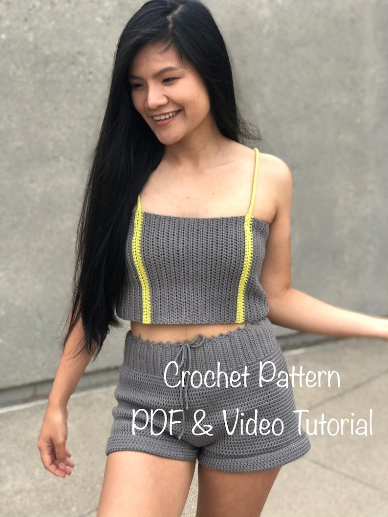 Crochet Pattern : Crochet crop top pattern. Pdf file and video image 0