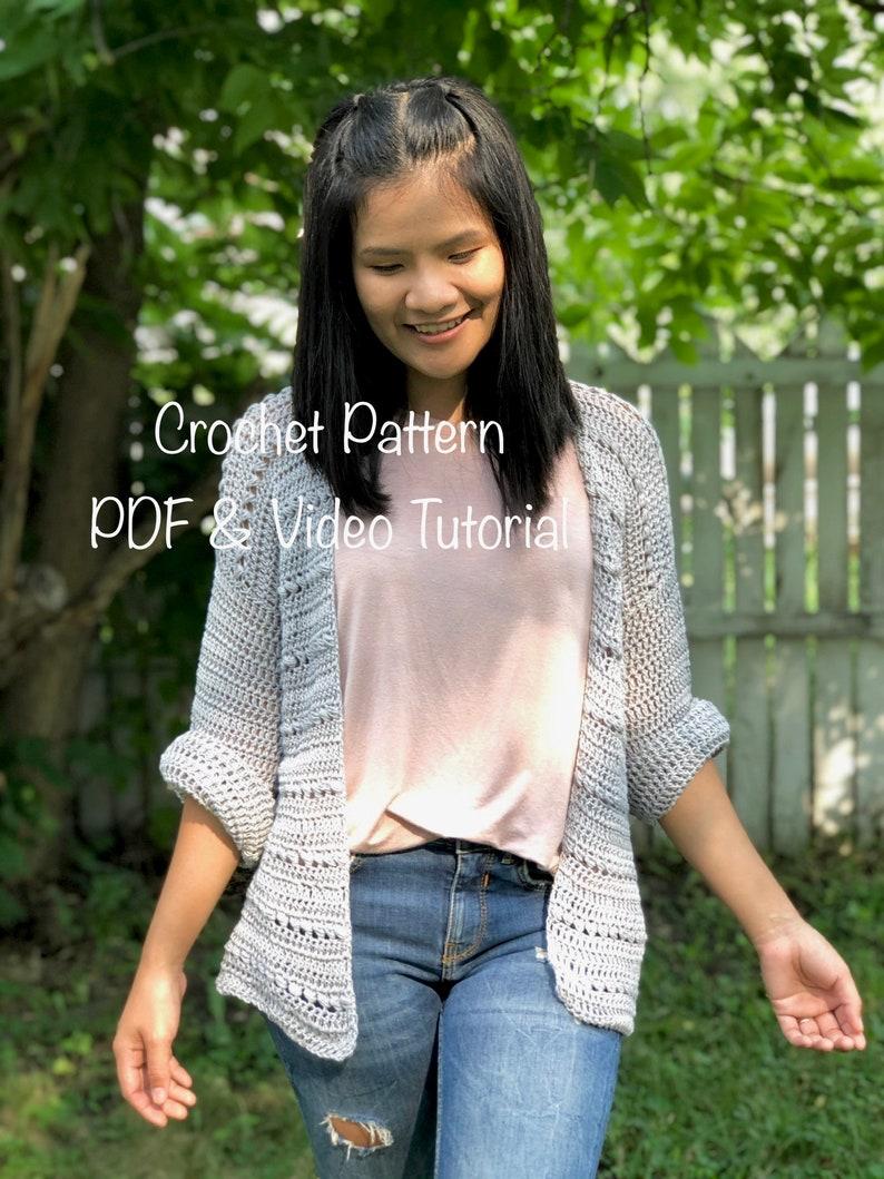 Crochet pattern : crochet cardigan pattern. PDF file photo image 0