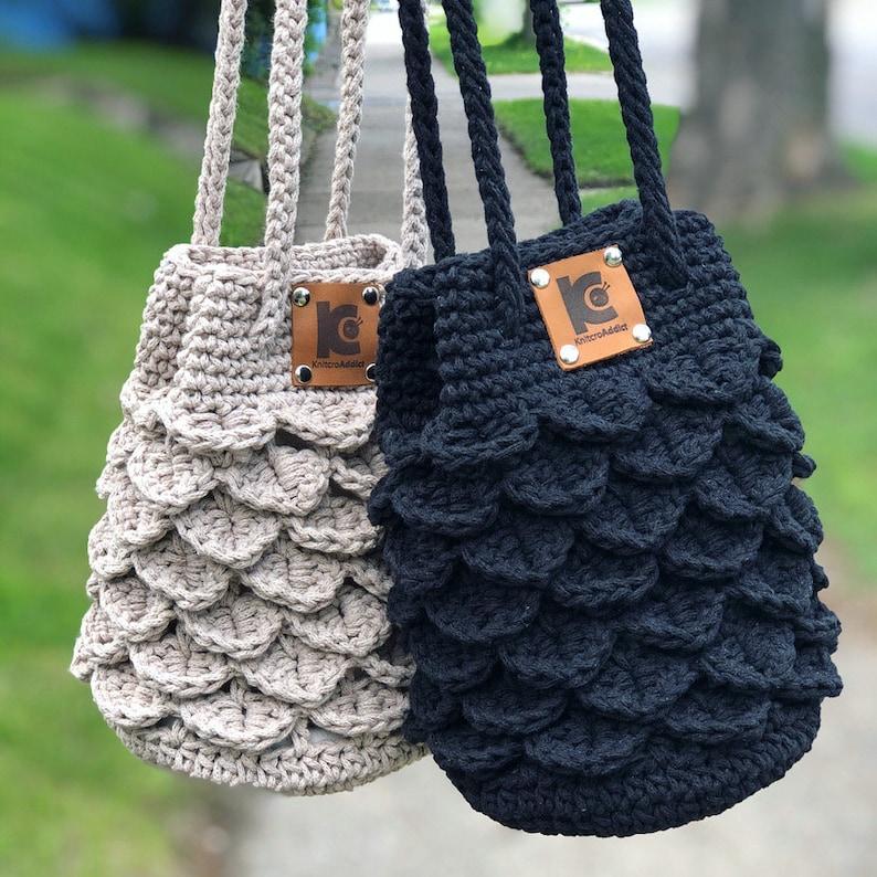 Crochet Pattern : Crochet crocodile stitch crochet bag image 0