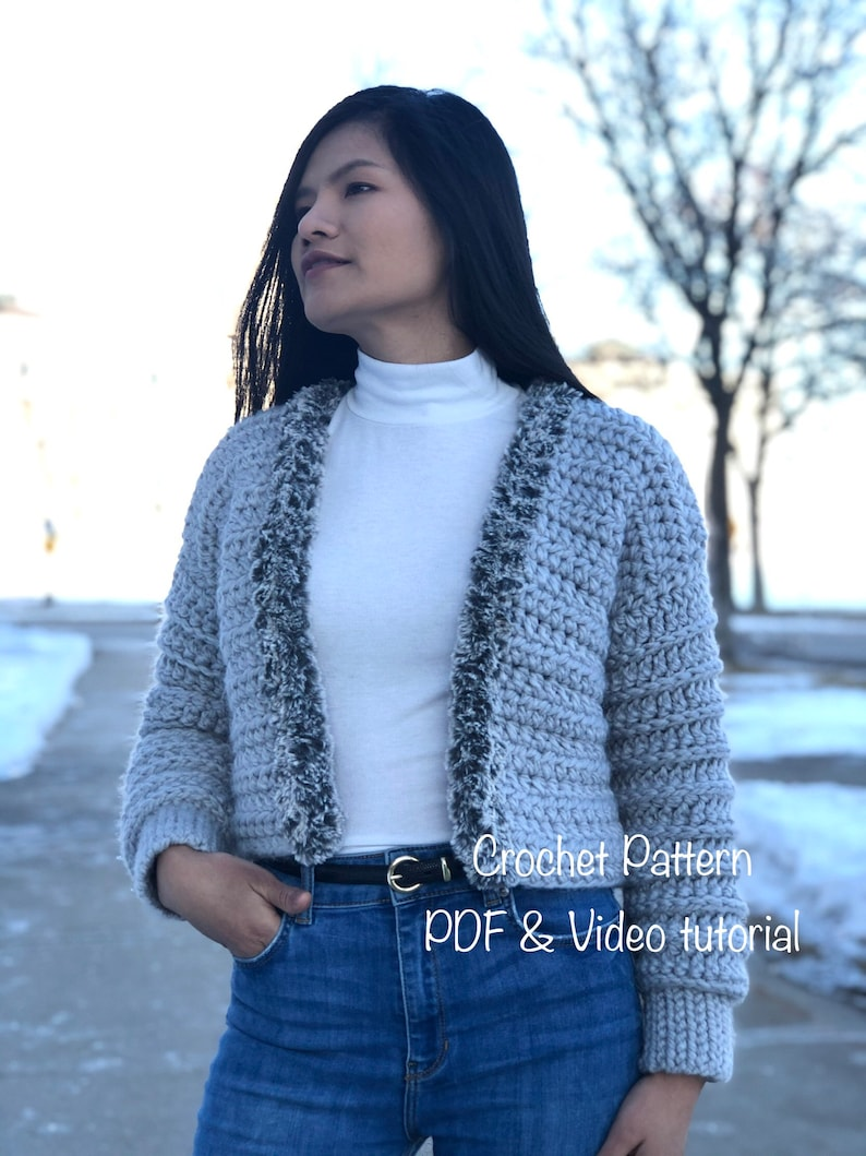 crochet pattern : crochet sweater pattern for US women's image 0