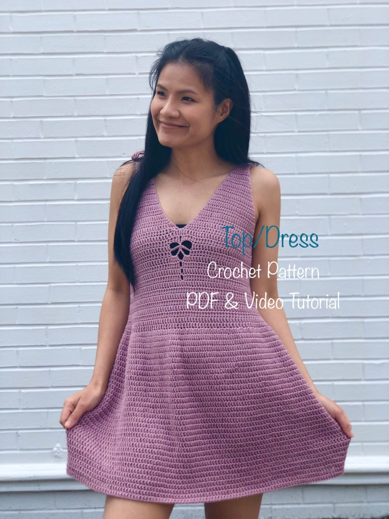 crochet pattern : crochet halter top and dress pattern. Pdf image 0