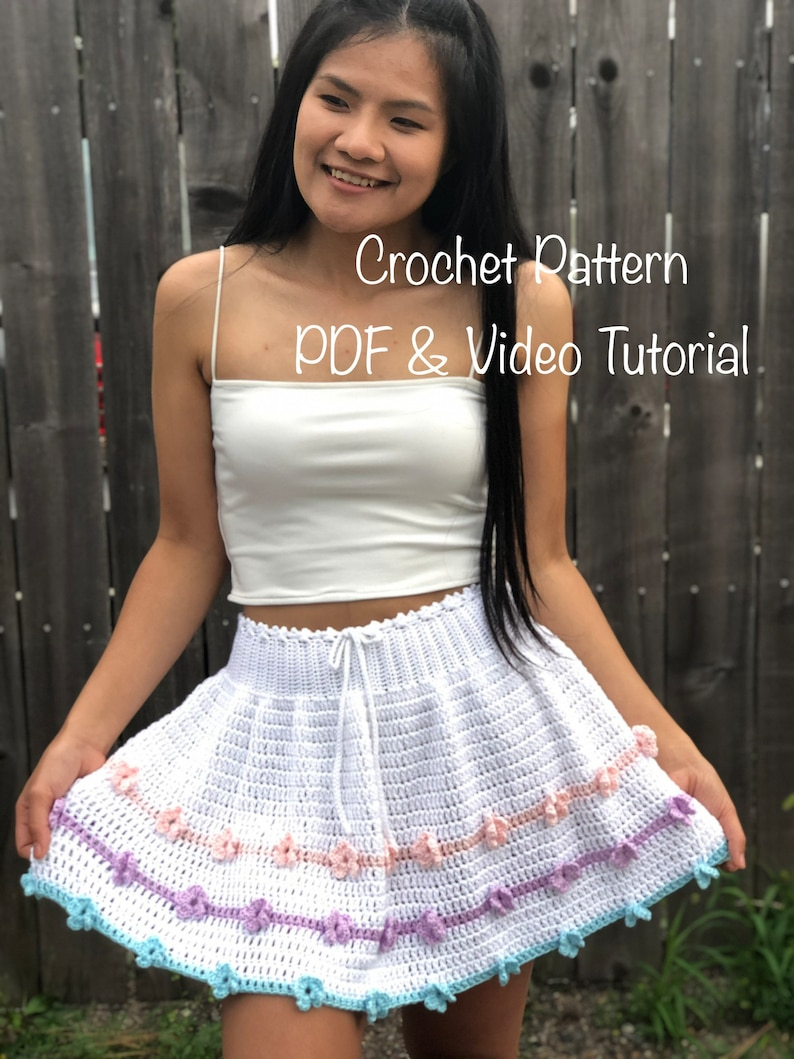 Crochet pattern: Crochet skirt pattern pdf file photo image 0