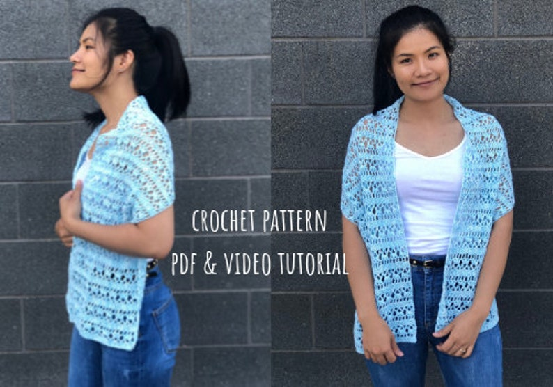Crochet pattern: crochet scarf pattern pdf file and video image 0