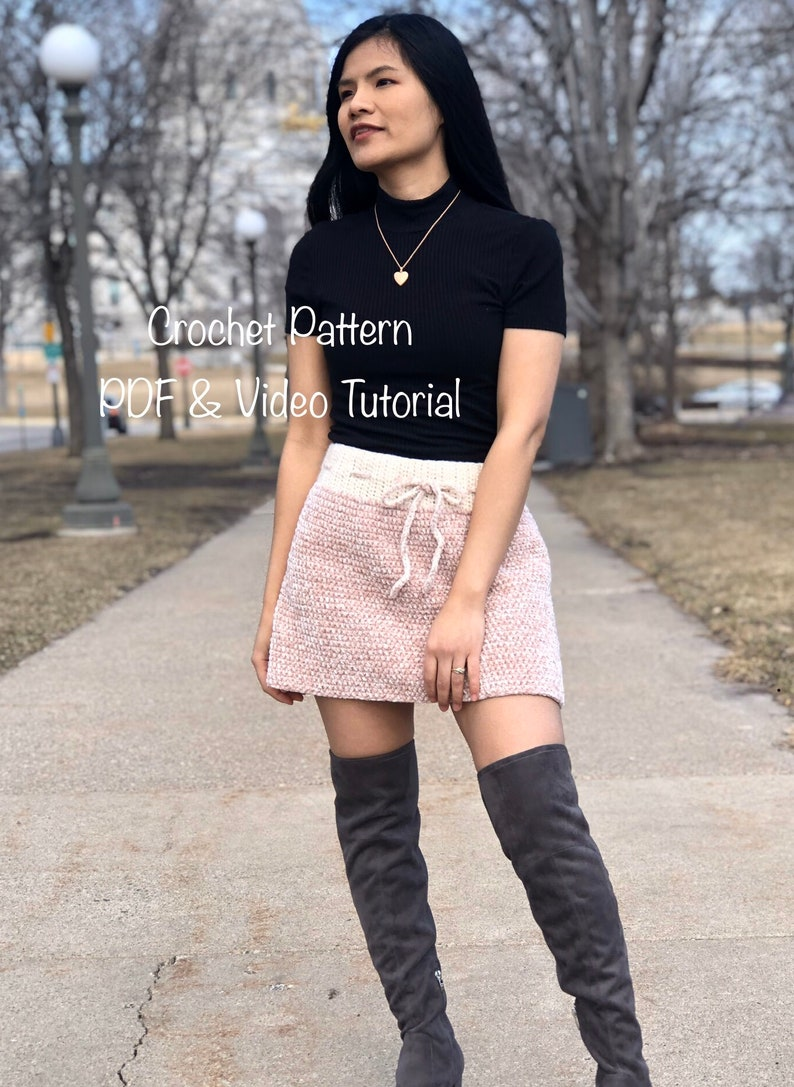 Crochet pattern : crochet skirt pattern  PDF and Video image 0