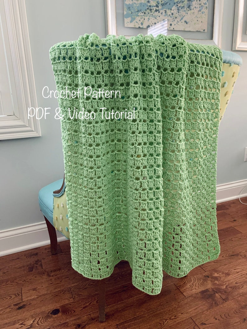 Crochet Blanket Pattern Easily adjust the size Pdf file and image 0