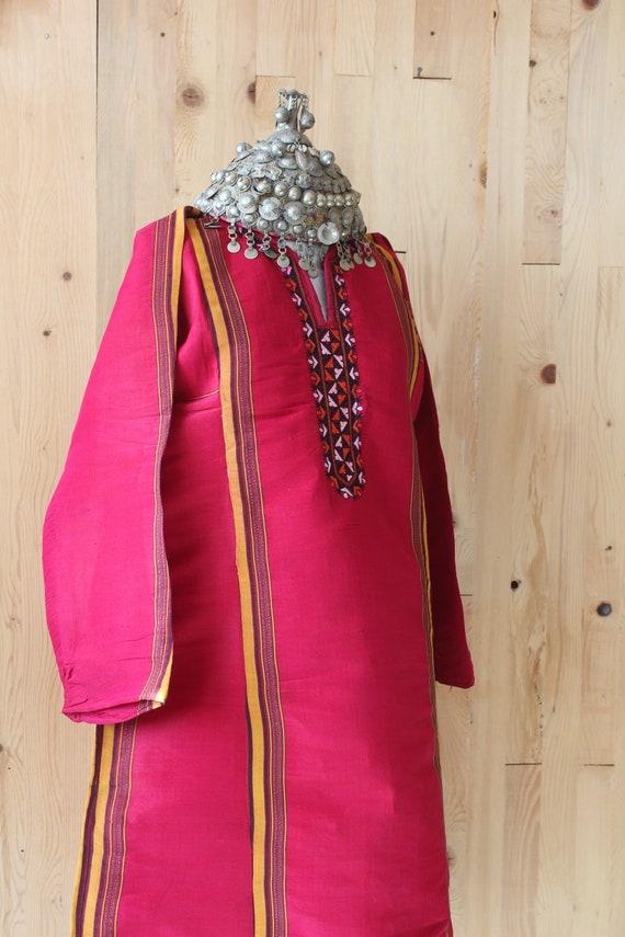Bohemian Red Silk Dress,  Ethnic Raw Silk Dress, … - image 3