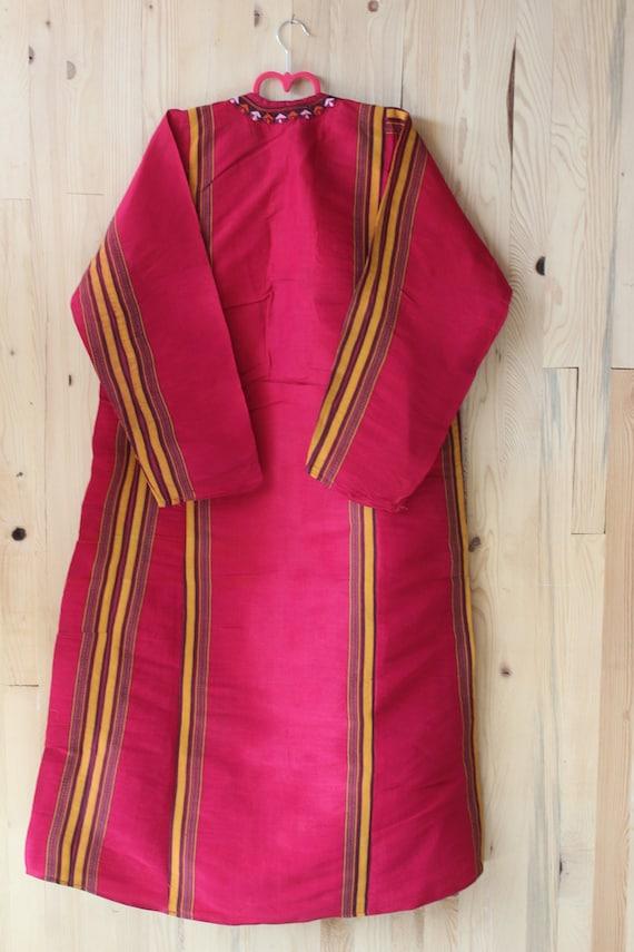 Bohemian Red Silk Dress,  Ethnic Raw Silk Dress, … - image 4