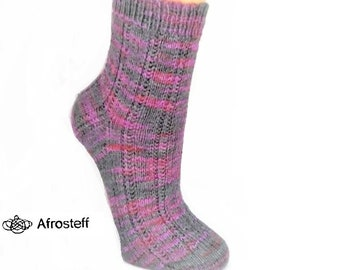 36a8dca40 Hand knitted Rip socks gr. 37-39 with bamboo wool socks made of hand dyed socks  wool knitted socks Knit