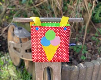 Bicycle bag for children, handlebar bag with ice