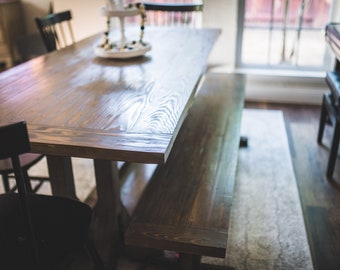 Modern Farmhouse Table and Bench