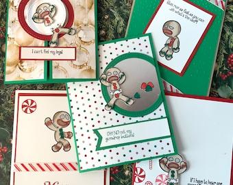Gingerbread Man Christmas Cards Snarky Funny Gingersnaps Holiday Gift Shrek