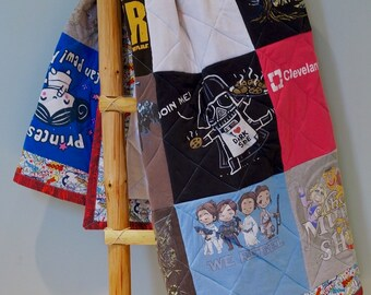 Memory T-shirt Quilt created using your shirts! Unique blanket throw gift! A creation for remembrance for your home.