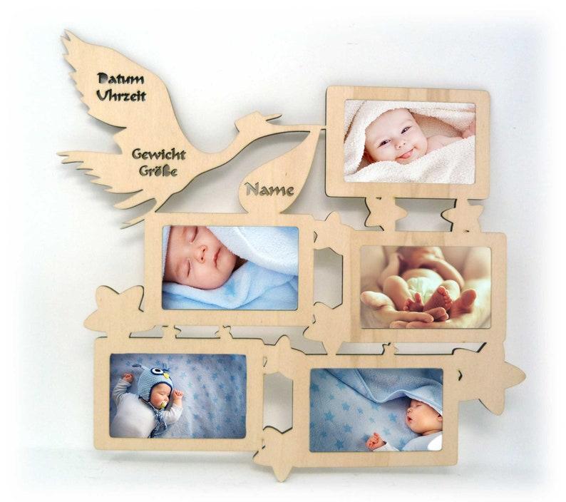 Baby Geschenke Taufe Bilderrahmen Collage Name