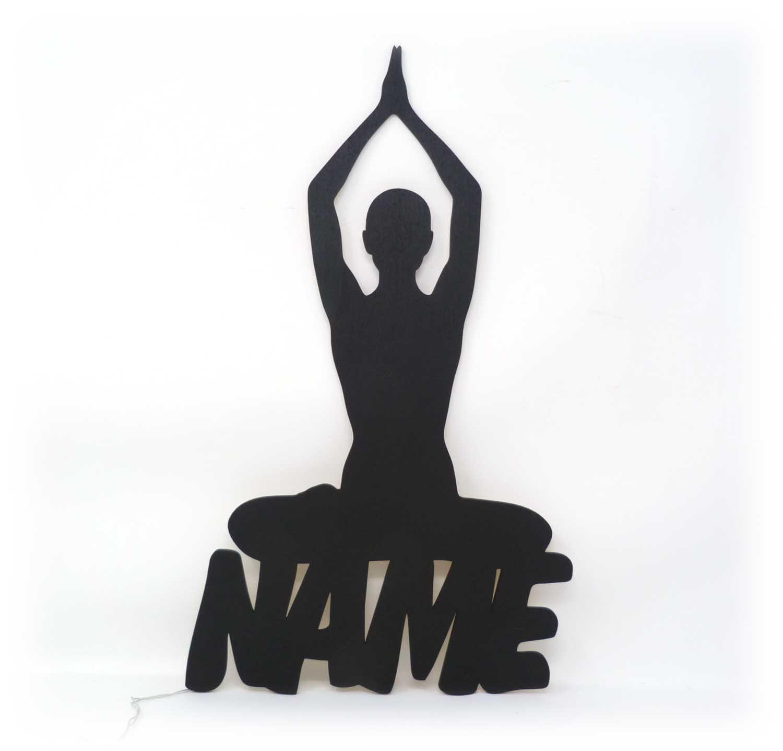 yoga lampe mit deinem namen deko geschenke etsy. Black Bedroom Furniture Sets. Home Design Ideas