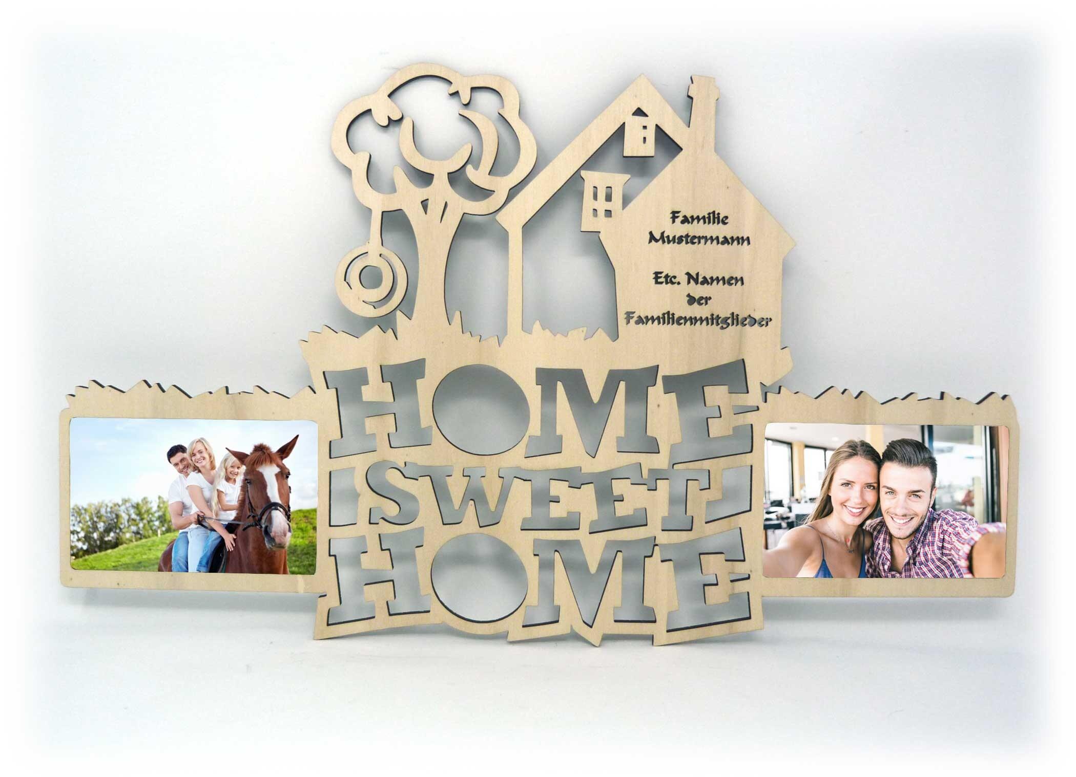 Home Sweet Home Bilderrahmen mit Namen der Familie | Etsy