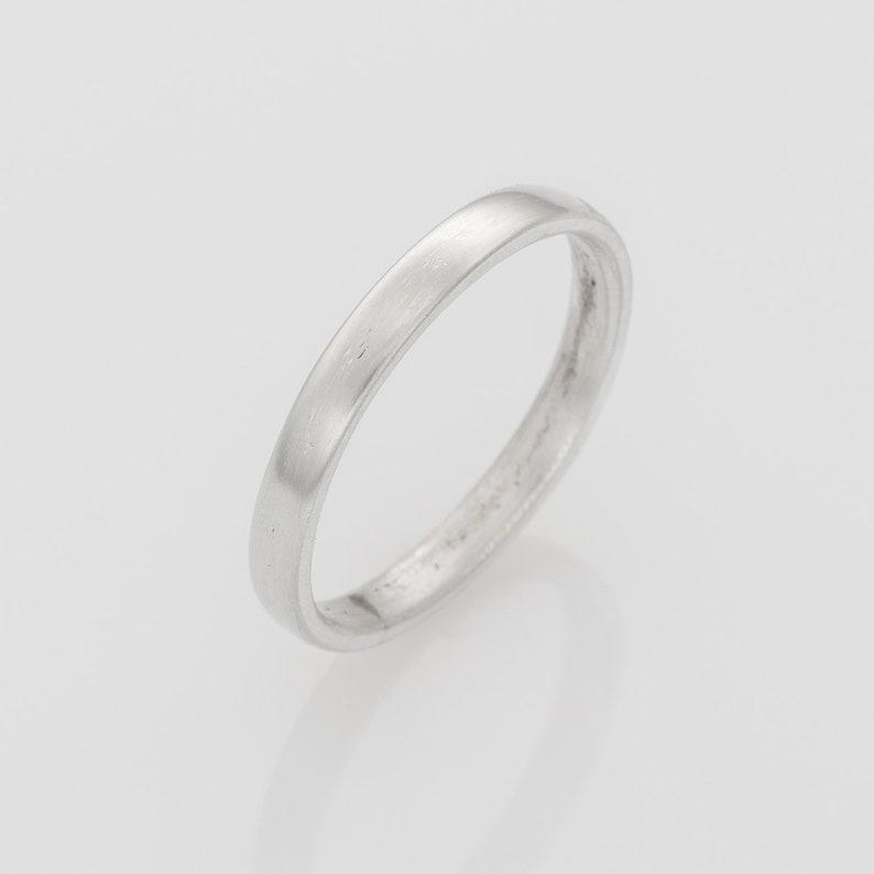 Simple Silver Wedding Band Wedding Bands Women Unisex Ring Etsy