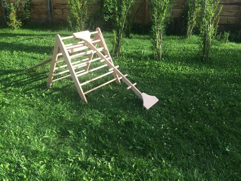 Kletterdreieck Nach Art Pikler : Sprossenbaum affensteg für kletterdreieck etsy