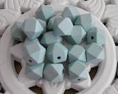 6 Light Jade Wooden Ball Hexagon 20 mm