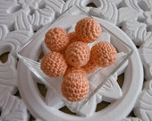 5 crochet beads peach crochet balls