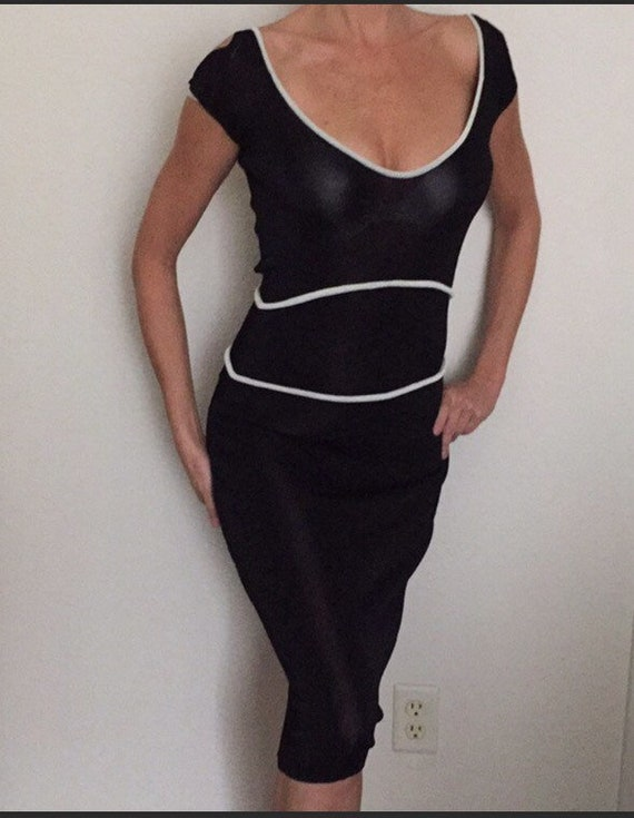 Vintage Mugler by Thierry Mugler Knit Dress Midi