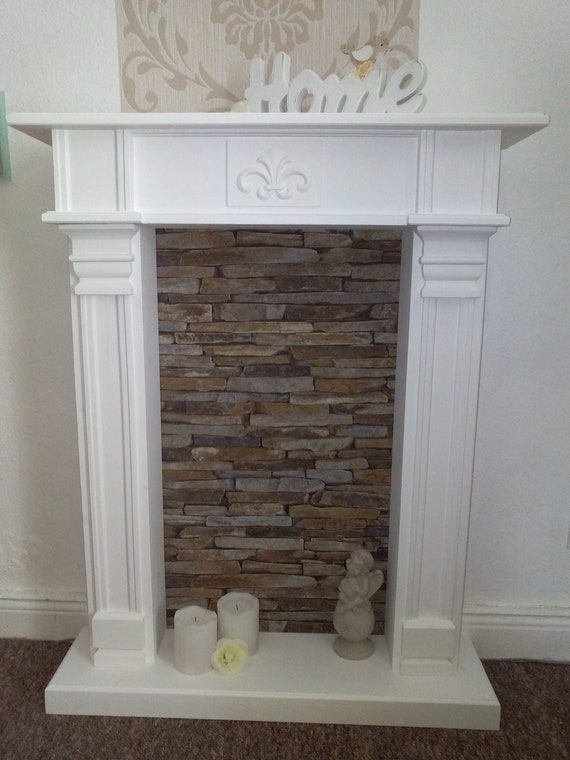 Dekokamin Deluxe Fireplace Border White Etsy