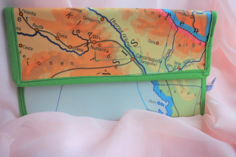 Map Of Spain And France Together.Travel Case From School Map France Spain Etsy