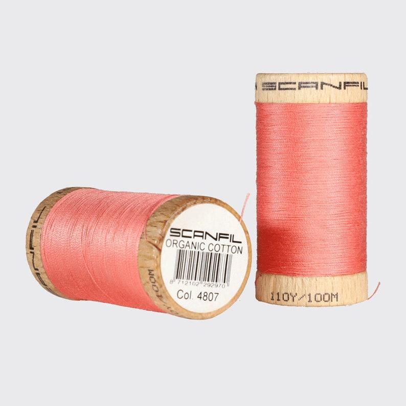 b699fd94696 SCANFIL Organic 4807 Salmon 100 meter cotton yarn | Etsy