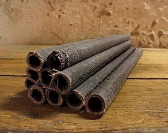 10 wax cloth torches black-grey 55 cm