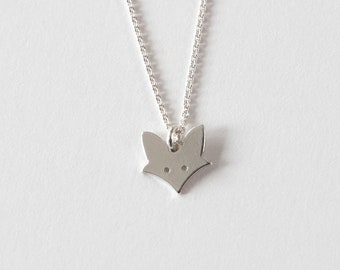 Children's chain KLEINER FUCHS, 925 silver, filigree necklace, special christening gift, personalized silver chain, sweet children's jewelry, animal chain