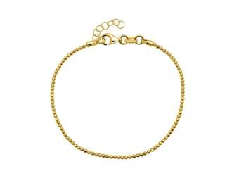 Ball bracelet - 925 silver plated, 1.5 mm, dainty ball bracelet, filigree silver jewelry, gift for her, fashionable bracelet, gift