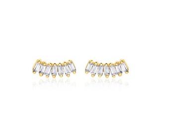 Stud earrings - BLACK ZIRKON, silver plated, shiny, delicate bridal jewelry, gift for her, dainty stud earrings, sparkling zircon