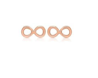 Studs - INFINITY, Infinity, Glossy, 925 Silver