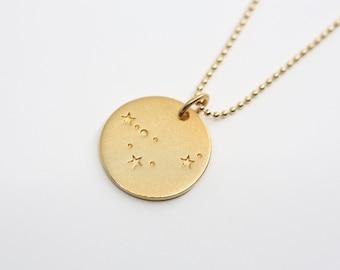 STERNZEICHENKETTE - Capricorn, 925 silver plated, filigree ball chain, special baptismal gift, personalized silver chain,