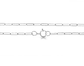 CABLE CHAIN, 40-60 cm, 925 silver, 2 x 5.2 mm, elongated chain links, filigree link chain, layer look, fine, dainty cable chain