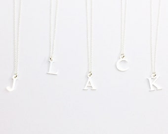 Letter Necklace - 2 BOOKS of your choice, 925 silver, personalized gift idea, silver jewelry, gift for her, godfather gift, baptism
