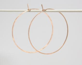 Hoop earrings - KREIS, rosé, size L, closed design, filigree, thin hoop earrings, hoops, everyday jewelry, birthday gift, gift idea