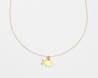 Necklace - SMALL FISH WAL, 925 silver plated, birth, filigree fish pendant, zodiac necklace, gift idea, baptism, children's jewelry
