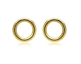 Stud earrings - SMALL RING, 6 mm, 925 silver plated, shiny, filigree earrings, gift idea for girlfriend, dainty earrings