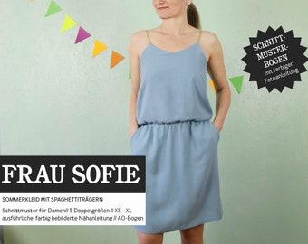 WOMEN SOFIE Summer Dress, PAPIERSCHNITT