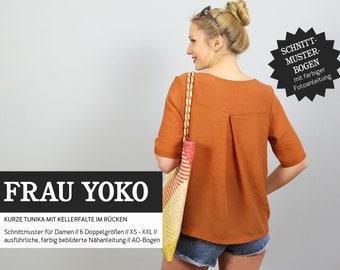 WOMEN YOKO - short tunic, PAPIERSCHNITT