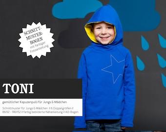 TONI Hooded Sweater for Kids, PAPIERSCHNITT