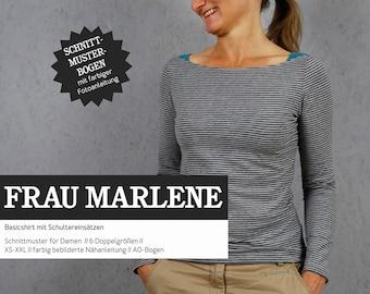 WOMEN MARLENE Basicshirt for Women, PAPIERSCHNITT