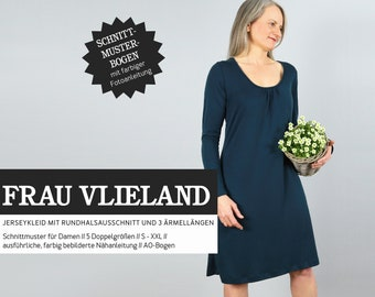WOMEN VLIELAND Jersey Dress, PAPIERSCHNITT