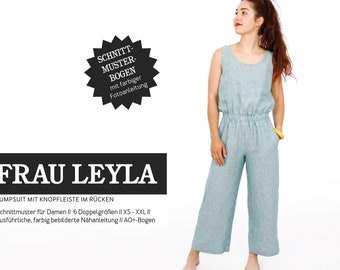 MRS. LEYLA • Jumpsuit with button strip in the back part, PAPER CUT