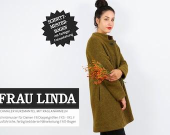 WOMEN LINDA Short coat with raglan sleeves, PAPIERSCHNITT