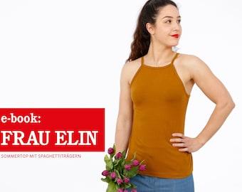 FRAU ELIN • Sommertop mit Spaghettiträgern, e-book