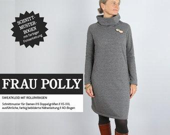 WOMEN POLLY turtleneck dress Sweat, PAPIERSCHNITT