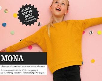 MONA - Raglansweater, PAPIERSCHNITT