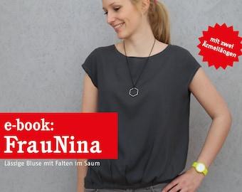 FRAU NINA Bluse mit Saumfalten, e-book