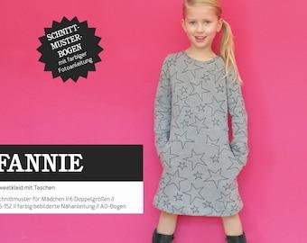 FANNIE Sweat dress with pockets, PAPIERSCHNITT
